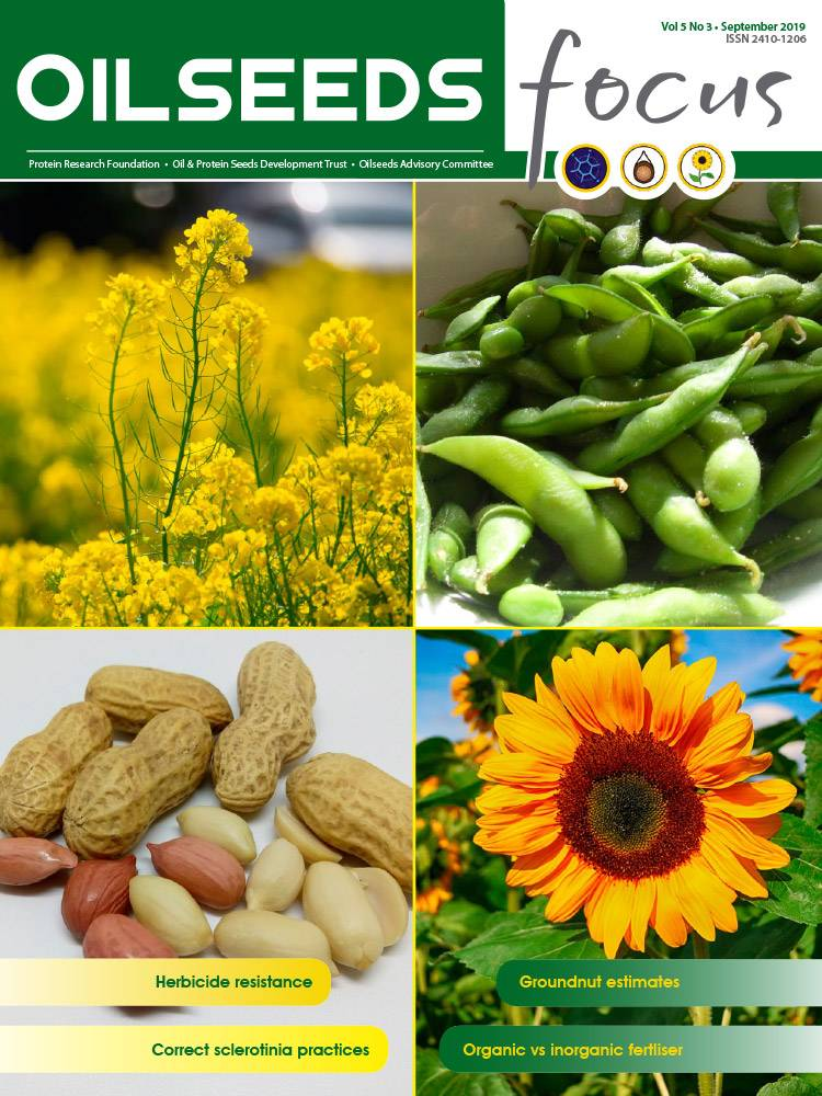 Cover of Oilseeds Focus Oilseeds Focus Vol 5 No 3 - September 2019